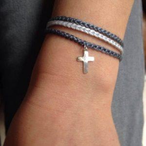 Collection Enfant - Filamant - Bracelet Croix argent